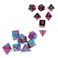 14Pc/Set Polyhedral Dice D4-D20 for Dungeons & Dragons Casino TRPG Toy Gifts
