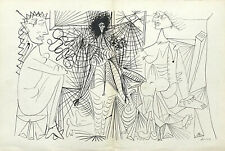 Pablo Picasso lithograph printed in 1943