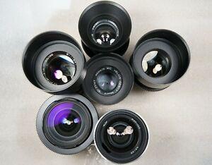 Vintage Set of 6 USSR CINE Lenses 20/28/37/58/85/135mm Canon EOS Full cla