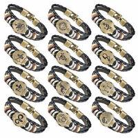 Sternzeichen Armband Unisex Surferarmband Geschenk Horoskop Kunstleder