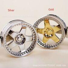 Wheel Rim Keychain Auto Part Car Keyring Key Chain Keyfob Holder Gold COOL