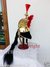 Brass French Cuirassier Officer's Helmet Napoleon Style Helmet with Wood Stand