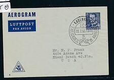 04303) Dänemark  GA Aerogramme LF 11 SST Kopenhagen ICR 1953, Medizin