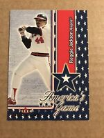 2002 Fleer Maximum Americas Game Jersey Angels Baseball Card #10 Reggie Jackson