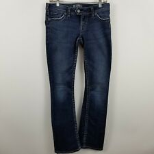 Silver Tuesday 16 1/2 Women's Boot Cut Dark Wash Blue Jeans Size 28 x 33