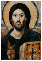 "ORTHODOX ICON ON WOOD ""JESUS CHRIST PANTOCRATOR OF SINAI"" VI c,18x26cm"