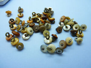 Over 50 Vintage Mother of Pearl Glove / Boot Buttons Mixed