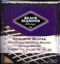 Acoustic Guitar Strings N600M Black Diamond Medium Gauge Ball Ended PB Wound