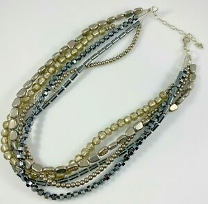 Silpada Sterling Silver Five Strand Necklace 113.9 Grams