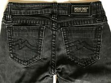 MISS ME JEANS JPD1003SK-4 SUNNY SKINNY GRIFFITH PARK GREY GRAY BLACK 28 X 33