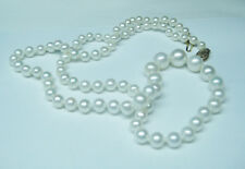 18'' Graduated Natural Cultured Pearl Necklace 14K Yellow Gold Clasp