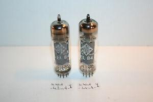 EL84, TELEFUNKEN (SIEMENS) / nice pair vacuum tubes , test good, similar values