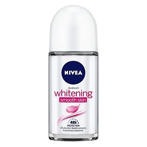 NIVEA Deodorant Roll-on, Whitening Smooth Skin, Care underarms 50ml Free Ship