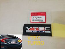 Genuine Parts VTEC TURBO Fits Honda Decal Emblem Badge FIT JAZZ CIVIC JDM Rear