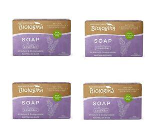 Biologika Soap Lavender Cleanser Bar Australian Organic Skincare Body 4 packs