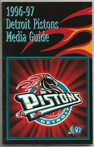 1996-97 Detroit Pistons NBA Basketball Media Guide Grant Hill