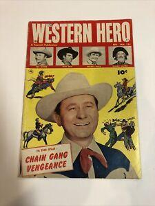 Western Hero (1952) # 111 (VG) Tex Ritter   Tom Mix   Gabby Hayes   Fawcett Publ