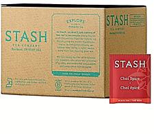 Stash Tea Chai Spice 100 FREE SHIP Black Tea 100 Count Box of Tea Bags in Foil