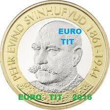5  EURO  FINLANDE COMMEMORATIVE 2016  PRESIDENT FINLANDAIS   N°3   /  disponible