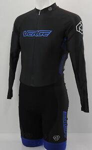 Verge Strike + Men's XS Speedsuit Long Sleeve Black/Blue Brand New