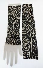 Tattoo Sleeves Set Of 2 Arm Stockings Black Beige Design Halloween Biker Costume