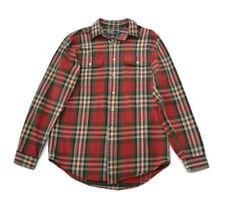 Vtg RALPH LAUREN POLO Plaid Flannel Shirt Size M Men's Cotton NICE!