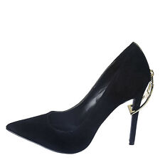 High Heel Pointed Toe 4.5in Stiletto Sexy Women's Black Zip-Shoe US11