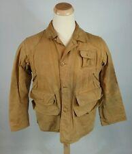 Vintage 40s 50s Red Head Bone Dry Canvas Coat Bird Duck Hunting Med Jacket Coat