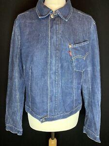 Levis Ladies Engineered Blue Cotton Denim Jacket Size L (A2)