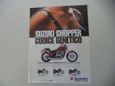 advertising Pubblicità 1996 MOTO SUZUKI VS 600 GLF/GL CHOPPER