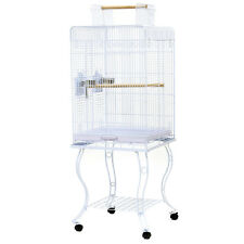 134cm Bird Cage Parrot Aviary Pet Budgie Cage Perch Castor Wheels W Stand Larger