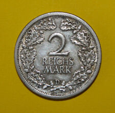 Germany 2 Reichsmark 1926-D Extremely Fine Silver Coin