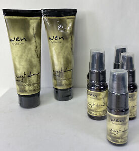 Lot Of 7 New WEN Hair Care Products by Chaz Dean Sweet Almond Mint Creme /Gloss