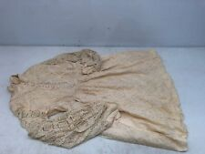 Rare One Of A Kind Vintage Union Made Cream Lace Little Girls Dress W/ Buttons!
