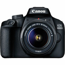 CANON EOS 4000D Kit Spiegelreflexkamera 18MP mit Objektiv 18-55 mm f/5.6 NEU OVP