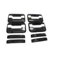 For 2004-2014 Ford F150 Crew Cab Door Handle Covers GLOSS BLACK w/o psk w/keypad
