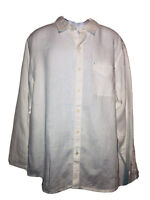Men's TOMMY BAHAMA White Linen Long Sleeve Shirt L Large NEW NWT Great Deal