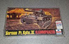 "VINTAGE ESCI 1/72 SCALE #8057 ""GERMAN PZ. KPFW.III FLAMMPANZER"" UNBUILT MIB NR!"
