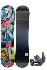 Rare $425 Youth Firefly Delimit Snowboard & Stealth Bindings Combo 100Cm Boys
