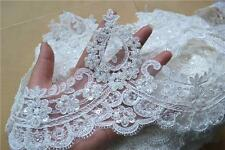 Vintage Beaded Lace Trim Flora Corded Wedding Lace Edging Lace Edge Bridal Veils