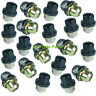 LAND ROVER DEFENDER & DISCOVERY 1 NEW BLACK CAPPED ALLOY WHEEL NUTS NUT SET X20