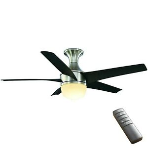 Home Decorators Tuxford 44 in. LED Indoor Brushed Nickel Ceiling Fan