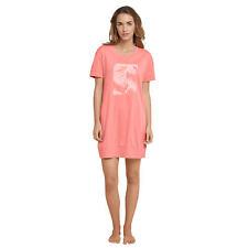 SCHIESSER Damen Nachthemd 85cm kurz kurzarm Jersey Palmen grapefruit Gr 40 / L