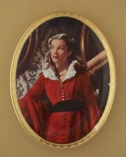 Gone With The Wind CAMEO MEMORIES Oval Plate GARNET GLAMOUR #8 + COA Scarlett