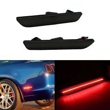 2x Smoked Lens Rear Bumper Side Marker Red LED Lights For 2010-2014 Ford Mustang