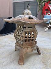 """Vintage Cast Iron Pagoda Lantern Chinese Japanese Lantern Tea Garden 6.2Lbs, 10"""""""