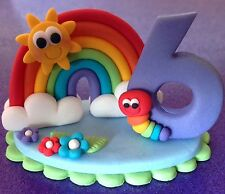 Edible Rainbow Number Topper BIRTHDAY CAKES CUPCAKE TOPPERS
