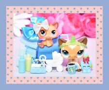 ❤️AUTHENTIC Littlest Pet Shop LPS #3573 #2414 Mommy Baby Shorthair Cat Kitten❤️