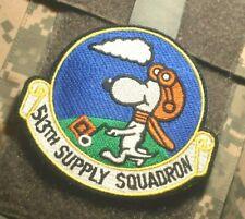 USAF 513th AIR SUPPLY SQUADRON RAF Mildenhall UK vêlkrö INSIGNIA: SNOOPY FLYER