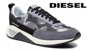 Diesel Men's Shoes S-KB Low Lace Camouflage Comfortable Sneakers Trainers